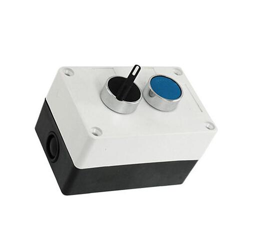 Blue Push Button Rotary 2 Position Selector Switch Station<br><br>Aliexpress