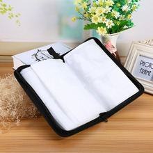 New Arrival Faux PU Leather 80 Disc CD DVD Holder Storage Cover Case Organizer Wallet Bag Album