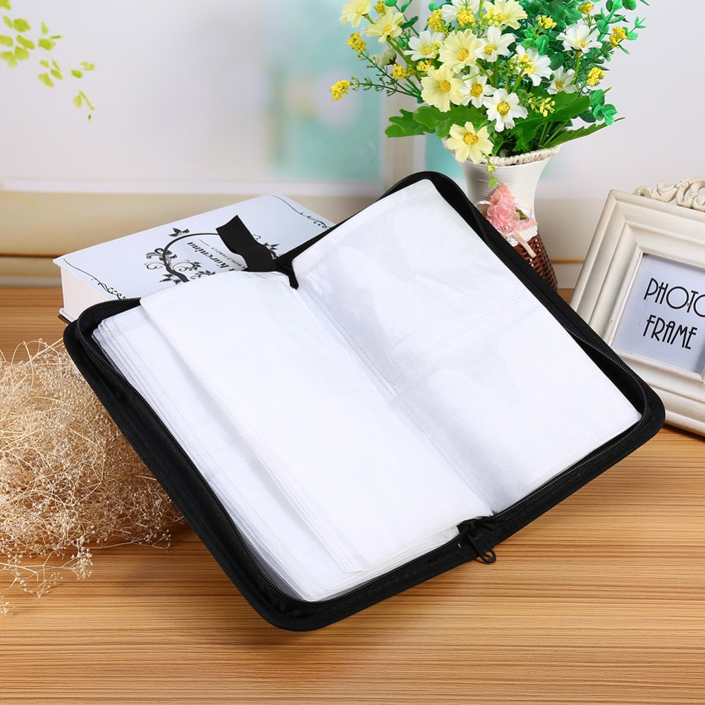 New Arrival Faux PU Leather 80 Disc CD DVD Holder Storage Cover Case Organizer Wallet Bag Album(China (Mainland))
