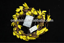 Free Shipping Battery Type 6' Willow Garland Light with forsythia flower decoration 3*AA Battery Flower Light Branch Light