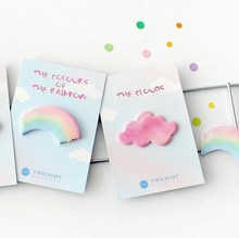 4pcs/lot Pink Clouds Rainbow Message Notes Notes Hand Paste Accounts Paste Paper Hand Account Post Classification(China)