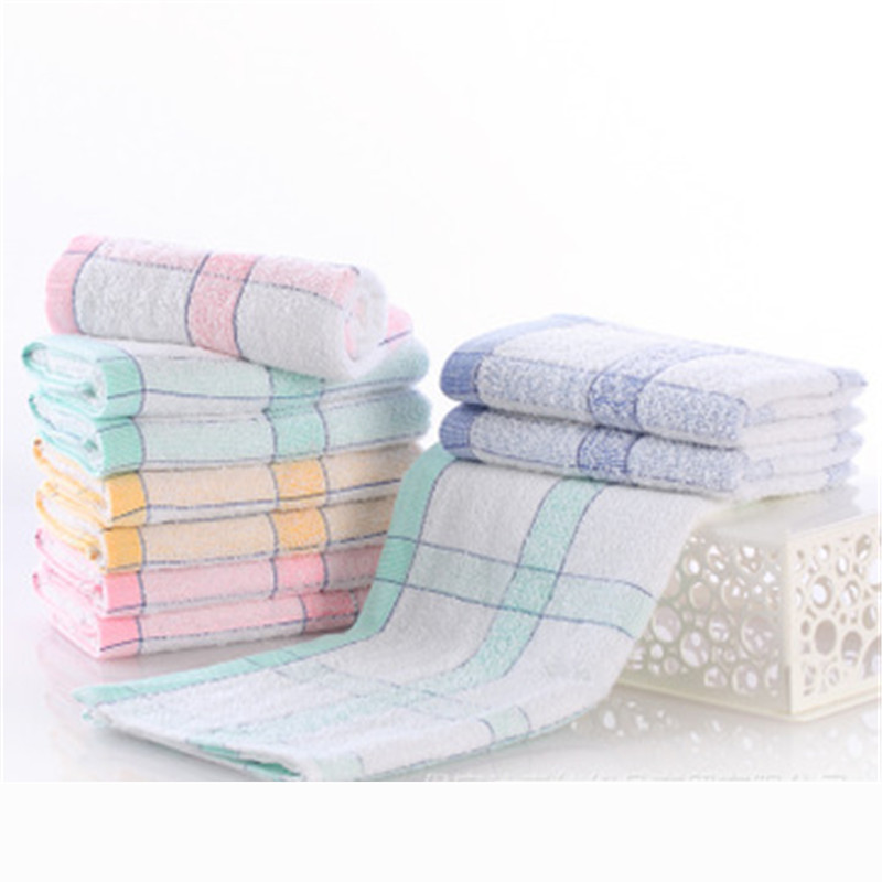 33x73cm Checkered cotton towel gift tablecloth Quick-drying Towel Bear Cartoon Microfiber Absorbent Beach Bath Towels Nov1