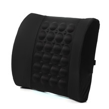 Black Multifunctional Electrical Car Massage Lumbar Support Cushion Vehicle Back Seat Relaxation Waist Support Pillow