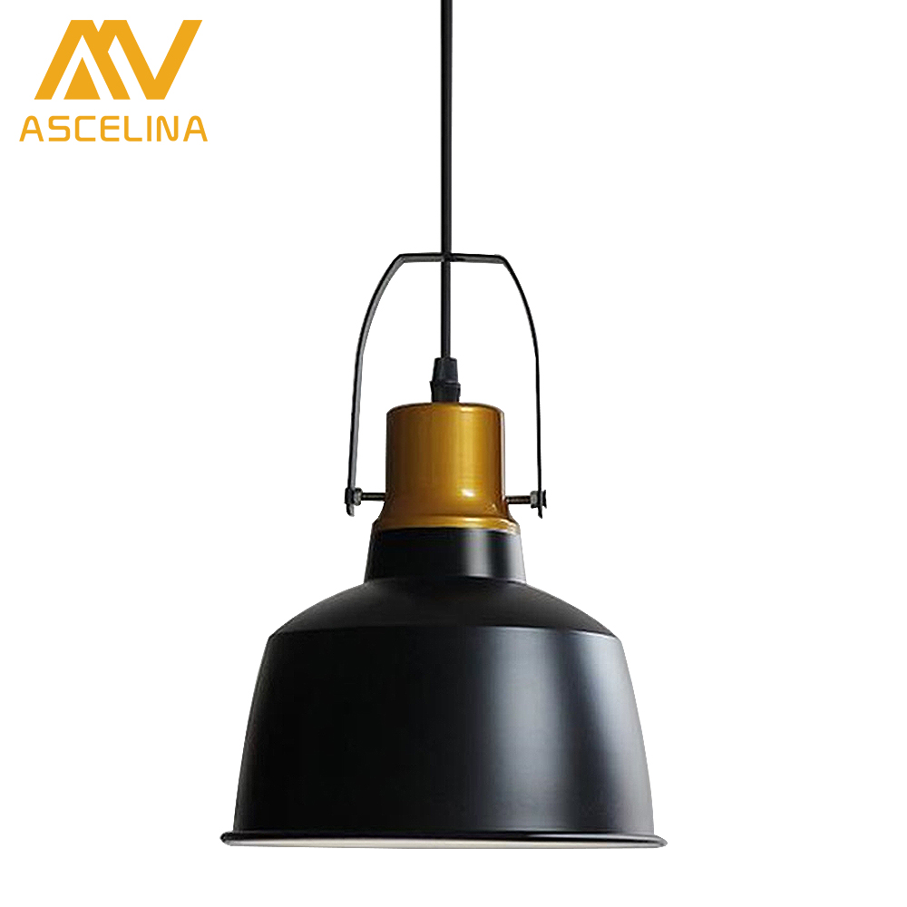 European Retro country Single head pendant lights aluminum gold pot Industrial style indoor lighting restaurant bar light<br>