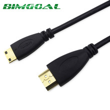 0.5m 1M,1.5m,2M,3M,5M High speed Gold Plated HDMI TO MINI HDMI Cable 1.4 Version Plug Male-Male HDMI 1080p 3D for TABLETS DVD