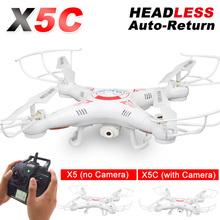 X5C RC Drone with 720P HD Camera or X5 without Camera 2.4G Remote Control Quadcopter Helicopter Profissional Drones(China)