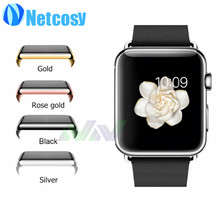 1pcs luxury electroplate cover for apple watch 38mm 42mm shell plating black/gold/sliver/rose gold