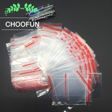 200pcs/lot 4*6cm PE Transparent Self sealing Zip Lock Bag Gift Rings Earrings Jewelry Small Goods Ziplock Plastic Packaging Bags(China)