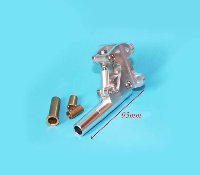 Free Shipping Aluminium alloy Stern shaft Tail shaft bracket holder for RC Gasoline boat Racing O yacht 95mm*6.35mm<br>