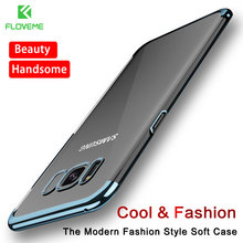 FLOVEME Fashion Case For Samsung S8 Plus Case Light Luxury 3D Plating Mobile Phone Case Cover For Samsung Galaxy S8 Hard PC Capa(China)