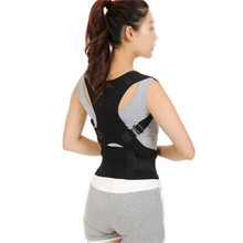 2 Colors Back Brace Posture Corrector Best Fully Adjustable Magnet Support Brace Lower and Upper Back Pain | Improves Posture(China)