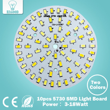 10pcs Warm/Cold White Combined Color  PCB 3W 5W 7W 9W 12W 15W 18W 5630/ 5730 SMD Light Board Led Lamp Panel For Ceiling