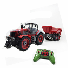 Remote Control Farm Tractor RC Car 8 Channel 4 Wheel Loader Manual Detachable Dumper Trail With Skip Bucket Best gift for boy(China)