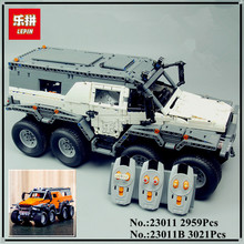 IN STOCK LEPIN 23011B 3021Pcs Technic Series Off-road vehicle Model Building Kits Block Educational Bricks Compatible Toys Gift