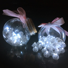 100 Pcs White Led Balloon Lights Mini Round Ball Lamps for Wishing Bottle Lantern Christmas Wedding Party Home Decoration(China)