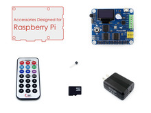 Raspberry Pi A+/B+/2 B/3B Accessories Pack B including Expansion Board Pioneer600 SD Card, IR Controller, etc.(China)