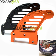 Motorcycle CNC Aluminum Rear Brake Disc Guard Protector Cover Modified Accessory for KTM 400 EXC 04-06 450 SX-F 250 XCF 07-14(China)
