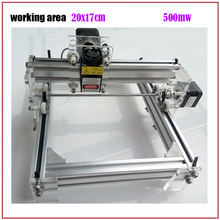 Free shipping!!! GRBL 500mW Desktop DIY kit blue purple Laser Engraving Machine Picture CNC Printer, working area 20cmx17cm