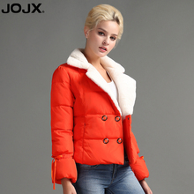JOJX Fashion Autumn winter women jacket 2017 short Lambskin Winter Coats Female elegant Jacket Coat Parkas Women Warm Outwear(China)