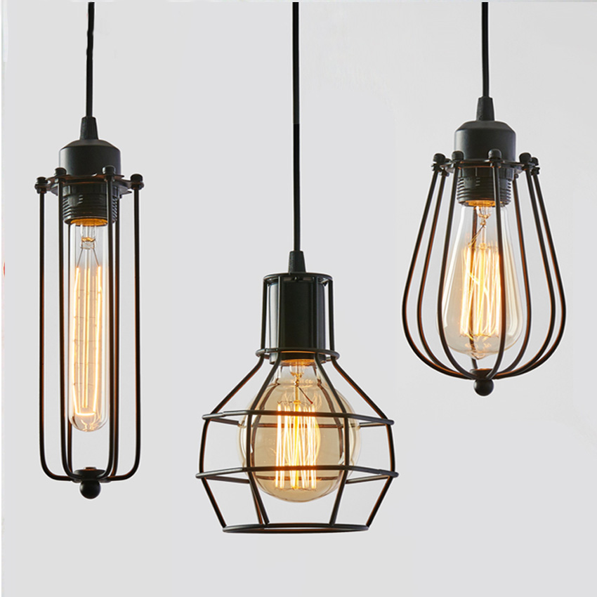 Edison Loft Style  Industrial  Vintage Retro Pendant Lamp E27 Holder Iron pendant light for Restaurant/Bedroom Home Decoration<br><br>Aliexpress
