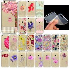 Best Selling Phone Cases for Apple iphone 6 6s fundas Soft  Sillicon Transparent TPU Colorful Flowers Love Patterns Back Cover