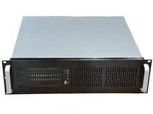 3u380 short computer case server dvr Chassis Support ATX large-panel pc power supply HTPC aluminum panel full(China)