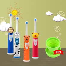 CkeyiN Cartoon Children Tooth Brush Electric Toothbrush For Kids Electric Massage Ultrasonic Toothbrush Teeth Care Oral Hygiene(China)