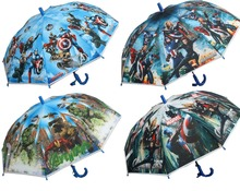 Free shipping America US hero cartoon umbrella long handle Rain Umbrellas children umbrella Baby kids Boys Captain Umbrella B69