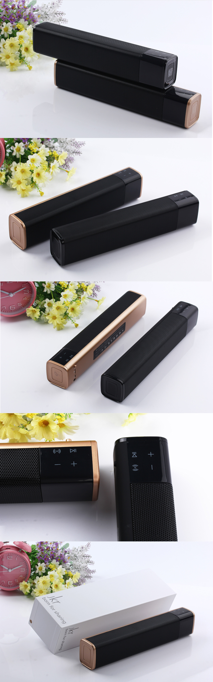 JKR-1000 Light perception control Mini Bluetooth Speaker Receiver Portable Wireless speaker Sound System 3Dstereo Music surround