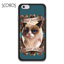 SCOZOS Grumpy Cat Once It Was Awful phone case cover for iphone X 8 8 plus 4 4s 5 5s 5c SE 6 6s & 6 plus 6s plus 7 7 plus #SC189(China)