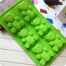 Cute Bear Kids Toy Icecube Mold DIY Creative Cake Chocolate Soap Mould Silicone Mold Cookie Pastry Tools