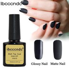 New 10ml IBCCCNDC Matte Top Coat Nail Gel Polish Soak Off UV Top Coat Primer Long-lasting Matt Lacquer Varnishs Nail Art Tools