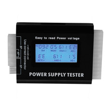 Digital LCD PC Computer PC Power Supply Tester 20/24 Pin SATA HDD Testers Power Supply Tester Checker Black