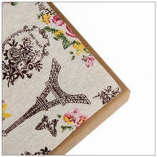 Eiffel Tower style Cotton Linen Fabric Sewing DIY Patchwork Quilt Knitted Sofa Curtain Cloth Cushion Table Furniture Material(China)