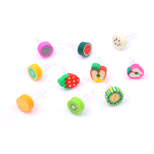 10pcs/set Earphone Limited Dust Plug Dachshund New Cute fruit Dustproof Plug Caps Cell Phone Accessories 3.5mm for Huawei iPhone