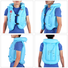Adjustable Children Kids Babys Inflatable Life Vest Swiwmsuit Child Swimming Safety Vest for Boys and Girls Drifting 3 Size