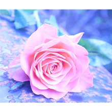 5D Diy diamond painting cross stitch Pink rose picture diamond mosaic pattern diamond embroidery home decor kids gift AS083