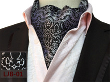 CityRaider Brand Men Vintage Polka Dot Wedding Formal Cravat Scrunch Self Gentleman Silk Ascot Ties For Mens Neck Tie Slim CR012
