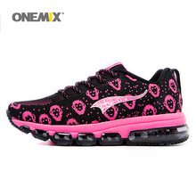 ONEMIX Woman Running Shoes Women Nice Run Athletic Trainers Peach Zapatillas Sports Shoe Max Cushion Outdoor Walking Sneakers(China)