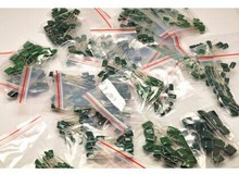 Polyester film capacitor kits total 620pcs 31values each 20pcs 100V2A102J-2A822J commonly used(China)