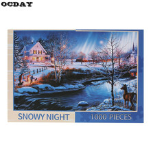 1000 pieces Jigsaw Landscape Puzzle DIY Assembled Paper Jigsaw Puzzle Educational Toys for Children Adult Christmas Gift New Hot(China)