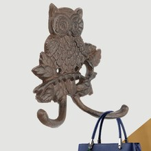 Owl Iron Wardrobe Design Hook Coat Hat Bag Cartoon Door Wall Hanger Home Decor Home Storage Organization Hooks Rails