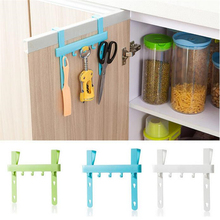 GOONBQ 1 pc Door Rack Hooks Plastic Kitchen Hanging Storage Cupboard Door Over  Back Style Stand Trash Garbage Storage Holder