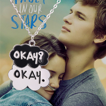 the fault in our stars necklace OKAY jewelry vintage cloud friendship pendant for men and women wholesale