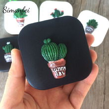 Simanfei Contact Lenses Case 2017 Creative Cactus Portable Plastic Mirror Eyes Care Kit Holder Gift Storage Box Container Washer