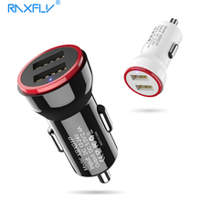 Buy RAXFLY Dual USB Car Charger Travel Adapter Output 2.4A Universal Car-Charger iPhone Samsung Mobile Phone Input DC12-24V for $4.99 in AliExpress store