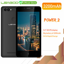 "LEAGOO POWER 2 Mobile Phone 5.0""HD IPS RAM 2GB ROM 16GB Android 8.1 MT6580A Quad Core Dual Camera Rear Fingerprint 3G Smartphone(China)"