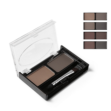 Mothe Home Brand Eyeshadow Cake Makeup 2 Color Waterproof Eyebrow Powder Eye Shadow Eye Brow Palette + Brush Eyebrow Enhancer(China)