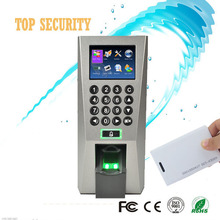 F18 TCP/IP color screen linux system stable fingerprint access control time attendance with RFID card reader for security