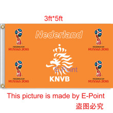 2018 Russia Football World Cup Netherlands National Team 3ft*5ft (90*150cm) Size Decoration Flag Banner